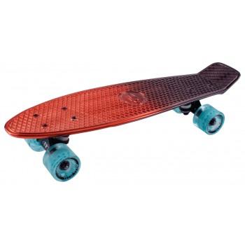 Скейтборд пластиковый Metallic 22 red