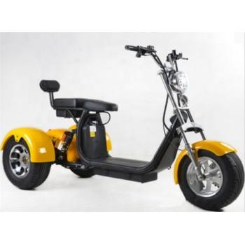 Электроскутер WS-Pro Трицикл Citycoco 2000W, 60В 20Ah Желтый