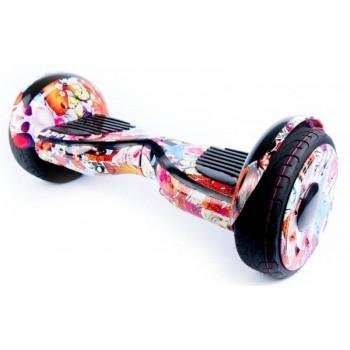Гироскутер самобалансирующийся Smart Premium OffRoad 10,5″ Розовый граффити 1000 Вт